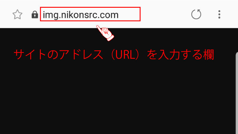 URLを入力する欄